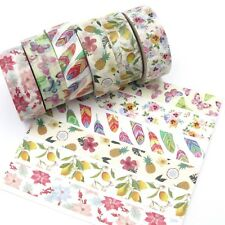 Washi Tape Set Florals Multi Colour Feather Lemon Tree Butterfly Pansy Flower