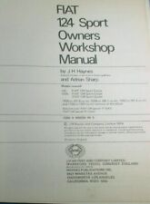 FIAT 124 SPORT Shop Manual;1967-1974 COUPE;1400;1600;1800; HAYNES HARDBOUND #094