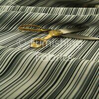 New Horizontal Black Striped Pattern White Colour Furnishing Upholstery Fabrics