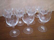 11 verres à Bordeaux taillés meule Epoque 1930