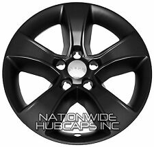 "4 MATTE BLACK 2011-2014 Dodge Charger 17"" Wheel Skins Hub Caps Full Rim Covers"
