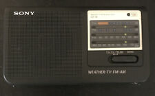 SONY RADIO ICF-36 WEATHER/TV/FM/AM DUAL POWER VINTAGE PORTABLE