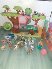Lot Petshop Arbre Maison + maison orange+30 Figurines +Accessoires Bon Etat