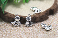 20pcs worm Charms Antique Tibetan silver worm charm pendants 16x12mm