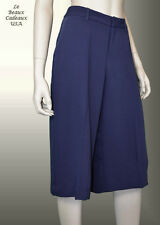 NEW$69.9 BANANA REPUBLIC Women SIZE 2 P Blue Wide Legs Gaucho Culotte Pants