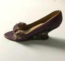 Miniature Shoe Nostalgia/ Popular Imports Purple with Floral Toe