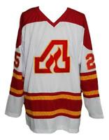 Any Name Number Size Atlanta Flames Retro Hockey Jersey New White Plett