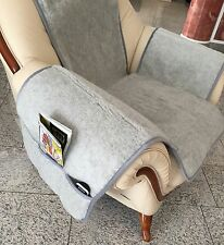 Seat Cover Grey Chair Cushion Throw Seat Cushion Merino Wool With Bags