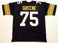 UNSIGNED CUSTOM Sewn Stitched Joe Greene Black Jersey - M, L, XL, 2XL