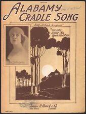 ALABAMY CRADLE SONG vintage jazz sheet music MISS SHELTON BENTLEY Art Deco 1925