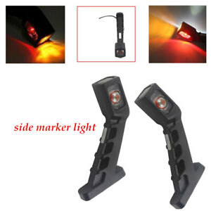 2PCS Truck Trailer Side 4 LED Signal marker Lamp roof light Indicator Brake kit