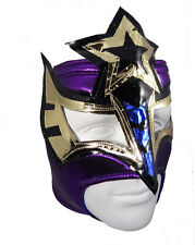 SEXY STAR (pro-fit) Female Wrestling Open Top Mask Lucha Libre - Purple