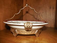 Syracuse China ~Brass Holder Handle Frame ~ Card dish ~ Gold Plate Accents