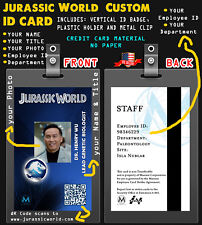 Jurassic World  Customizable with: PICTURE, NAME & TITLE Prop ID Badge