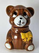 Vintage 1982 Houston Foods Ceramic Honey Pot Bear Sugar Dish Jar Vault
