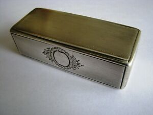 Heavy french  solid silver snuff box