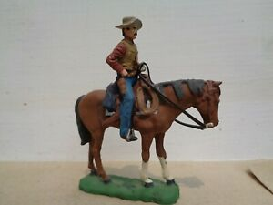 Imrie Risley, old west American cowboy mounted on horse, lead 54mm, jj