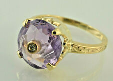 10kt Yellow Gold and Amethyst Ring