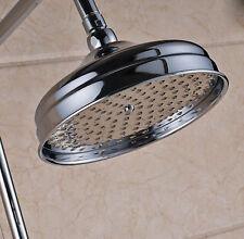 8-inch Rainfall Shower Head Round Rain Shower Head Chrome Bathroom Top Sprayer