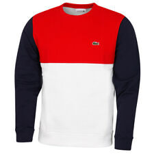 Lacoste Mens SH5185 Ribbed Contrast Embroidered Crocodile Sweater