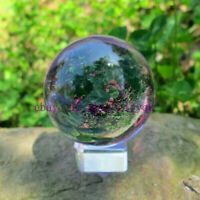 Asian Rare Natural Quartz Purple Magic Crystal Healing Ball Sphere 40mm + Stand