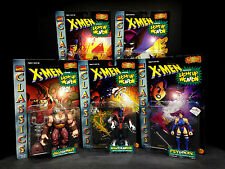 1996 TOYBIZ X-MEN CLASSICS LIGHT UP WEAPON 5 FIGURE SET WOLVERINE JUGGERNAUT D68