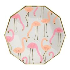 Brand New Meri Meri Flamingo Paper Plates Large Party Supplies Tropical Pink