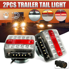 2x Magnetic LED Trailer Towing Lightboard Light Rear Tail Board Lamp & 10m Cable