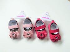 Zapatos Bebé Niña Cochecito Con Roseta, arco y Gema y un sujetador de gancho y bucle