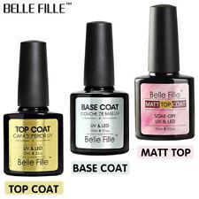 BELLE FILLE Base Foundation & Top Coat Soak Off UV Nail Art Matte Top Gel Polish