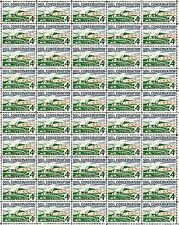 1959 - Soil Conservation - Fault-Free Mint Nh Sheet of 50 U.S. Postage Stamps