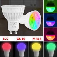 MiLight E27 GU10 MR16 RGB 4W5W 6W 9W 12W 2.4G Smart Dimmable Led Lamp Light Bulb