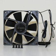 Antec Ultra Quiet 92mm Fan Black Molex 12v Computer Case Temperature Controlled