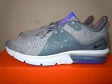 NIB GIRLS BOYS NIKE AIR MAX SEQUENT RUNNING SNEAKERS SHOES 922884 GRAY 6.5 Y $80