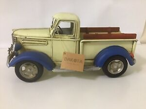 Very Collectable Vintage DAKOTA MODEL YELLOW TRUCK / Metal / Mint With Tag
