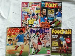 Lot 5 Magazines Football
