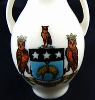 Vintage Goss Crested China Model Of The Exeter Vase, Leeds Crest