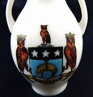Vintage Goss Crested China Model Of The Exeter Vase, Leeds Crest