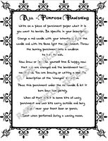 All Purpose Banishing Cleanse Ritual 1 page Spell Book of Shadows Pagan Wicca