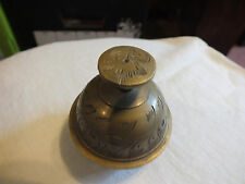 Collectible Cast Brass Bell Embossed Design Unique Style 2 1/8 Inch Cute