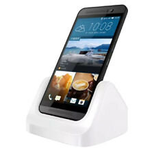 For HTC One M9,Desktop Charging Cradle Stand Charger Dock + USB Cable (Whit O6C1
