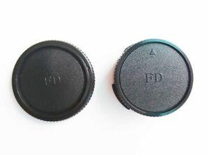 [Fast US] Canon Rear Lens Cover & Camera Body Cap for Canon FD SLR Lens
