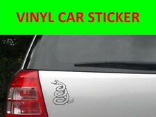 SNAKE METALLICA SILVER STICKER CAR VINYL VISIT OUR STORE WITH MANY MORE MODELS