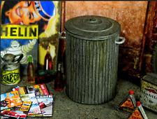 Abfalleimer Mülleimer USA Mülltonne Vintage Werkstatt Garage Diorama Deko 1/18