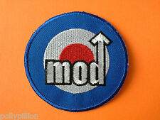 SCOOTER RALLY SEW ON / IRON ON PATCH:- MOD ROUNDEL JAM WHO SCOOTER TARGET ARROW