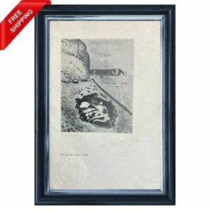 Henri Matisse - Etretat, the Skate, Original Hand Signed Print  with COA