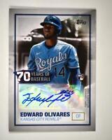 2021 Series 1 70 Years of Baseball Auto #70YA-EO Edward Olivares RC