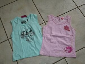 zwei schöne T-Shirt Top HERE&THERE by C&A Gr.140/146 rosa + mint grün