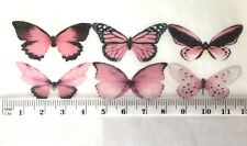 PINK Butterfly Cupcake Decoration Mixed Species 30pc Baby Rose Wedding Petite