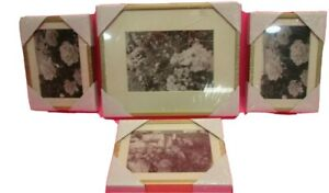 Gold Frame With White Matte Gallery Wall/Desk Picture Frames (Set Of 4) NEW